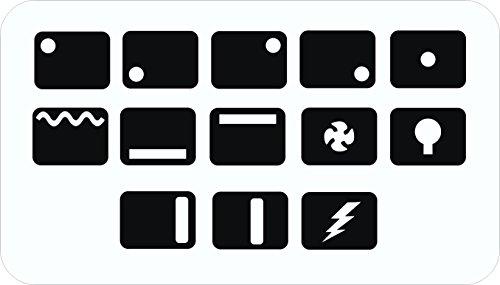 Ersatz-Symbol-Aufkleber für Backofen, Herd, Kochfeld, Schwarz