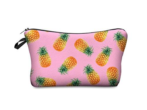 Beauty Case, borsa da viaggio, borsetta da toilette sacco sacchetto bagno per cosmetici trucco make up motivi diversi, Kosmetiktasche KT-002-050:KT-044 ananas