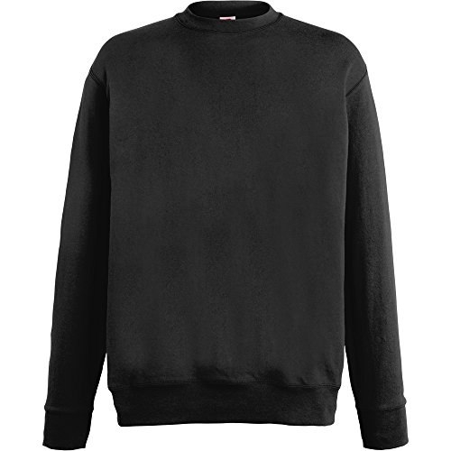 Fruit Of The Loom Mens Lightweight Set In Sweatshirt Black