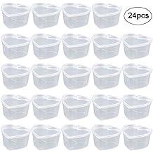 Leegoal Slime - Lote de 24 recipientes de almacenamiento de espuma con forma de corazón con