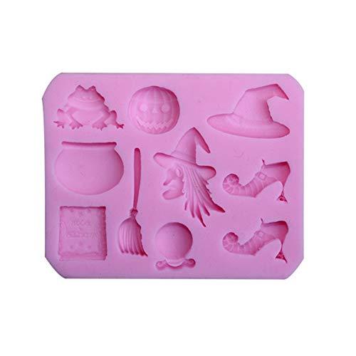 Homeofying Halloween Hexenbesen Silikon Fondant Form Zuckerguss Kuchen Dekorieren Werkzeug rose
