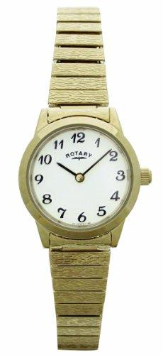 Rotary LB00762 Orologio da Polso, Donna, Cinturino in Acciaio Inossidabile, Oro