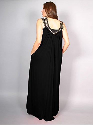 Vêtement Femme Grande Taille Robe Edmond Boublil Noir Multicolore