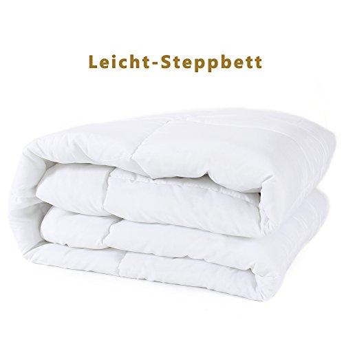 DUCK & GOOSE Hochwertige Leicht-Steppbett Sommerdecke Bettdecke Steppdecke Microfaser 155x220