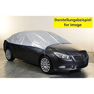 Halbgarage Autoabdeckung atmungsaktiv extrem leicht Mercedes Klasse SLK (R171)2004-2011 in silber exclusiv aus Tyvek mit Lagerbeutel