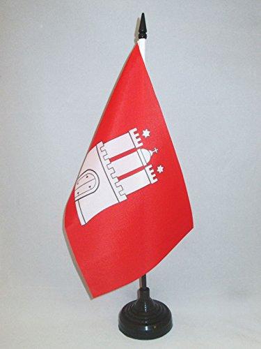 AZ FLAG TISCHFLAGGE Hamburg 21x14cm - Hamburg TISCHFAHNE 14 x 21 cm - flaggen -