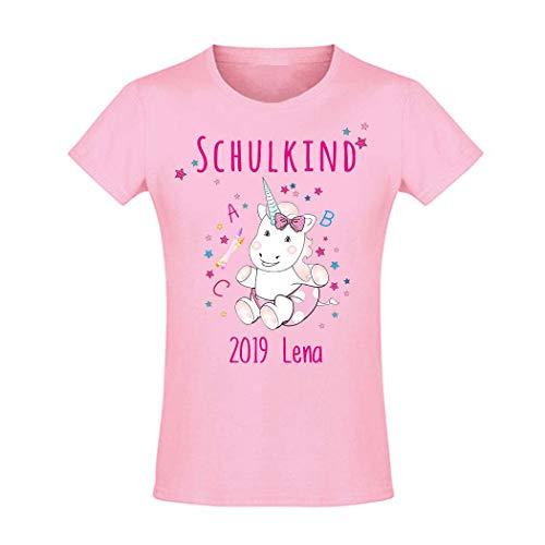 hirt tailliert Mädchen Schulanfang Schulkind 2019 Einhorn Cutie ABC, rosa Gr. 8 Jahre (118-128) ()