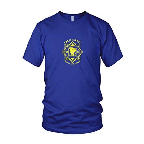 Power Blaues Kostüm Megaforce Ranger - Angel Grove Academy - Herren T-Shirt, Größe: M, Farbe: blau