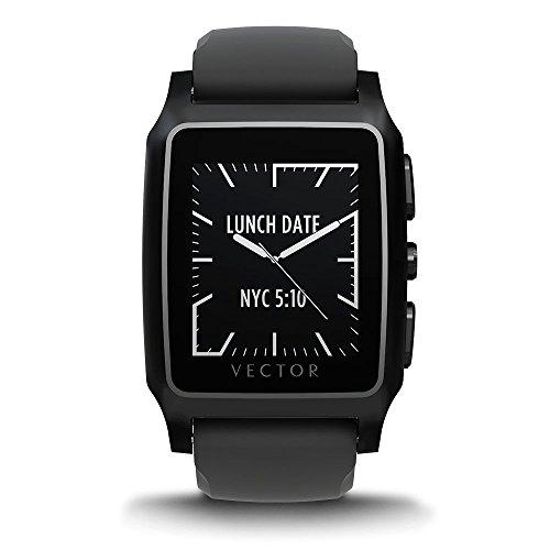 Vector M1-20-006 Meridian Smartwatch (36mm) Edelstahl mit Silikon Armband schwarz