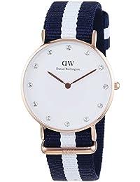 Daniel Wellington Damen-Armbanduhr XS Classy Glasgow LADY ROSEGOLD Analog Quarz Nylon DW00100078