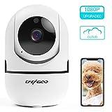 Cámara de Vigilancia 1080P Wifi con Visión Nocturna, Cámara de Mascota,Audio de 2 Vías, Giro / Inclinación, Detección de Movimiento, Alarma Email, Cámara de Seguridad