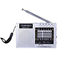 XHD® X5 DSP FM/MW/SW MP3 Player Portable Radio (Silver)