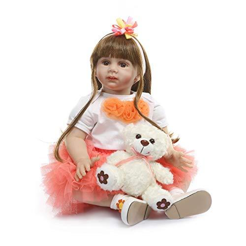 0 cm 3D Floral Realistische Große Größe Silikon Vinyl Neugeborenes Kleinkind Mädchen Puppe Weiche Sanfte Berührung Gefüllte Tuch Körper Wiedergeboren Prinzessin Puppen ()