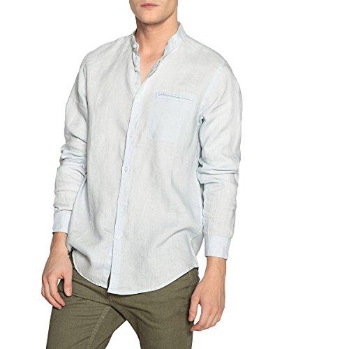 La redoute collections uomo camicia regular in lino collo alla coreana s