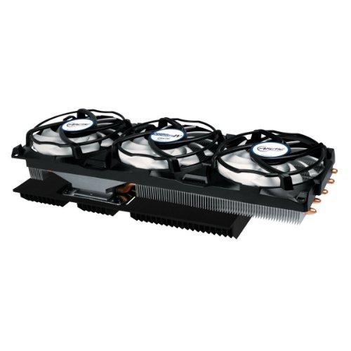 ARCTIC Accelero Xtreme IV – dissipateur thermique haut de gamme multicompatible pour carte graphique avec dissipateur thermique arrière pour un refroidissement amélioré de la RAM et du convertisseur de tension – ventilateur de carte graphique pour AMD R9 290, R9 290X et autres ... NVIDIA Geforce GTX Titan, 780, 680 et autres....