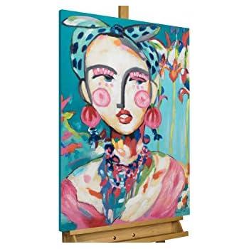 Acryl Gemälde /'VERHÜLLTER BLICK/'HANDGEMALTLeinwand Bilder 120x40cm