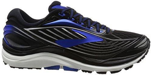 Brooks Transcend 4, Chaussures de Course Homme Noir (Black/electric Brooks Blue/silver)