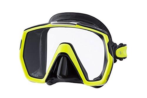 Tusa M1001 Freedom HD Scuba Diving Mask Silicone (yellow-black)
