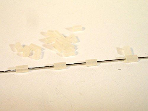 tter, 4x2mm, Verschluss für Ohrstecker A05756 (Kunststoff-zylinder Klar)
