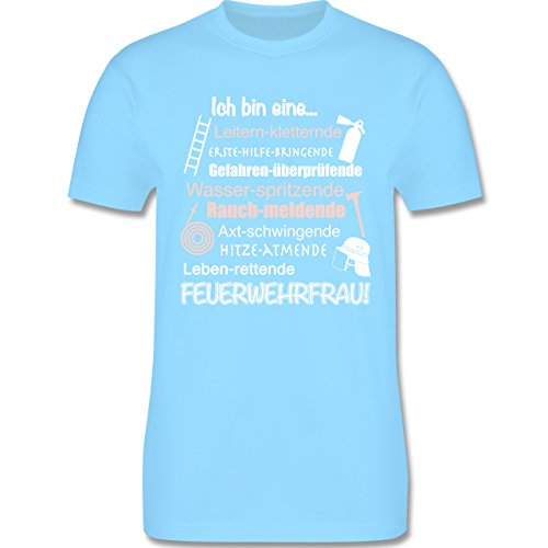 Feuerwehr - Ich bin eine ... Feuerwehrfrau! - Herren Premium T-Shirt Hellblau