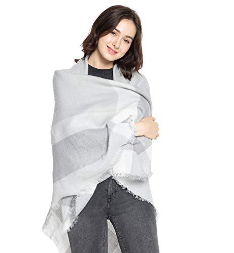 Superora sciarpa cachemire donna caldo modello lattice scialle stole con nappa stile quadrato invernale