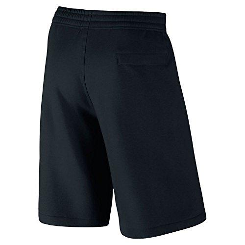 Nike Club short-exp Swoosh–Bermuda sportivi per uomo nero/bianco