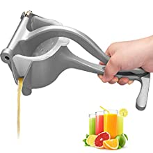 Manual Juicer Stainless Steel, Automoness Juice Extractor Lemon Squeezer Premium Manual Citrus Juicer for Juicing Orange Lemon and Other Hull-Free Fruits