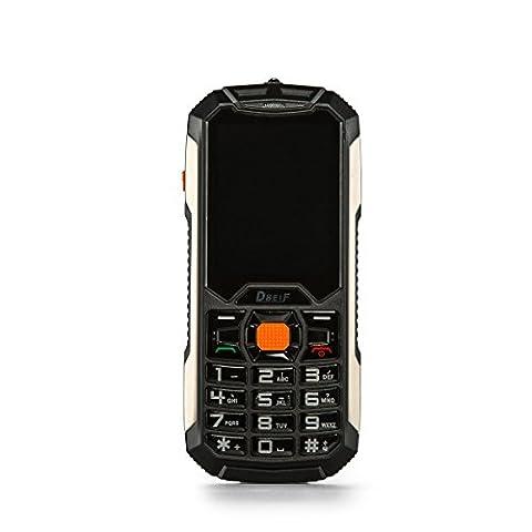 Kebaina C50 Dual Sim Téléphone Mobile,écran de 2,4 pouces, avec lampe de poche LED et Powerbank Fonction,Couleur Noir