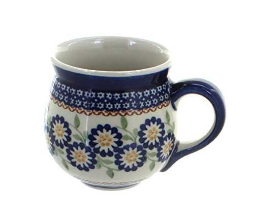 polish-pottery-peach-blossom-bubble-mug-by-blue-rose-pottery