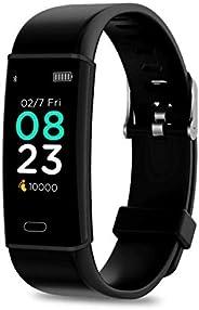 Pebble Kardio+ Fitness tracker (Black) for Men & Women with Blood Pressure Monitor Heart Rate Sleep Monito