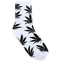 Qissy® Donne Uomini Marijuana Weed Maple Leaf lungo Skateboard Hip-hop calzini di cotone Caviglie Socks (Style 18)