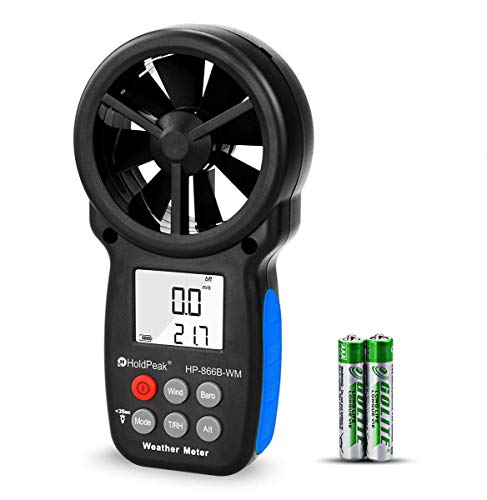 holdpeak 866b-wm anemómetro Digital portátil medidor de velocidad del viento de medición...