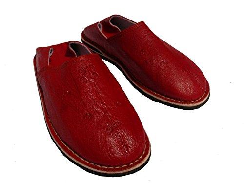 Orientalische Lederpantoffeln - Herren Rot