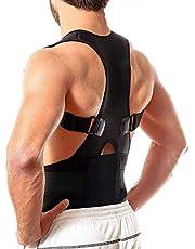 Quark Mart Unisex Magnetic Back Brace Posture Corrector Therapy Shoulder Belt for Lower and Upper Back Pain Relief, posture corrector men for women,back support belt for back pain - Free Size