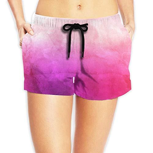 Hwgss Watercolour Texture Pattern Bonsai Women's Lightweight Beach Board Shorts Surf Yoga Pockets Beachwear(XL) - Oakley Lightweight Shorts