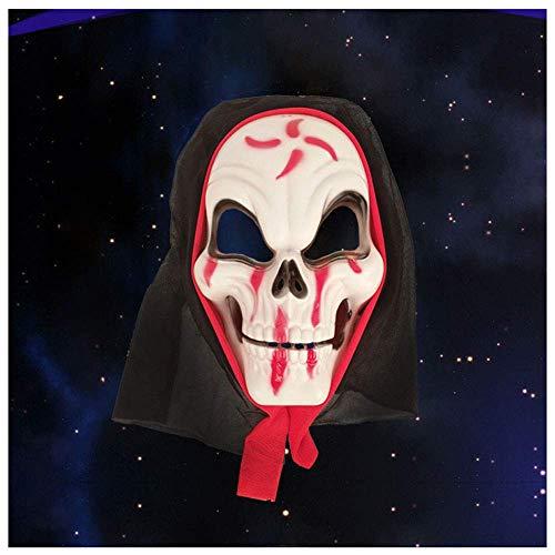YaPin Halloween Maske Full Face Requisiten Terror Teufel Screaming Black Cloth Grimasse Tod Kopfbedeckungen