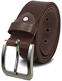 ROYALZ Cinturón de cuero para hombre cuero de búfalo de 4mm 08968a54180e