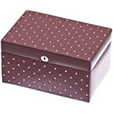 Davidt's Strass Medium Synthetic Jewel Box with Crystal Studs in Burgundy