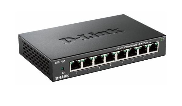 D Link Des 108 E Fast Ethernet Unmanaged Desktop Switch Computers Accessories