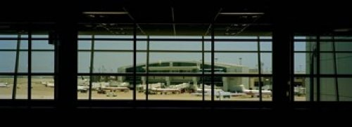 Panoramic Images - Airport viewed from inside the terminal Dallas Fort Worth International Airport Dallas Texas USA Photo Print (91,44 x 33,02 cm)