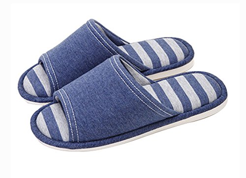 (Made By Cotton) Skidproof Le Style Simple De Pantoufles(Bleu Marine)