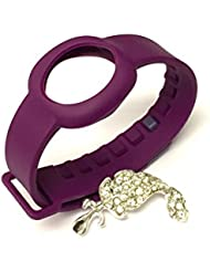 BSI 1pc Purple Color Replacement Strap for Jawbone UP Move Only /No tracker/ Wireless Activity Bracelet Sport Wristband Bracelet Sport Arm Band Armband + Nice Crystals Feather Brooch
