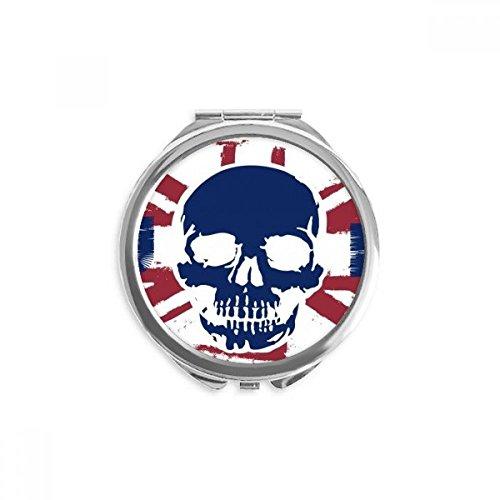 hes Skelett UK Union Jack Flaggege Zeichen Spiegel Runde bewegliche Handtasche Make-up 2.6 Zoll x 2.4 Zoll x 0.3 Zoll Mehrfarbig ()