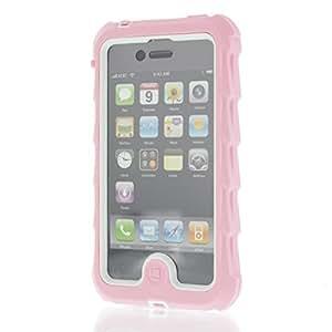 Gumdrop Drop Tech Series Case for iPhone 4 - Pink/White