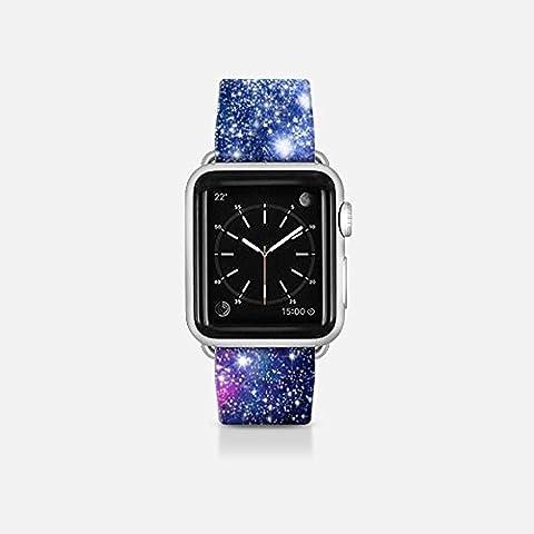 Apple Watch Band von casetify®, Premium Ersatz Apple Uhrenarmband mit Umwerfende Design [Galaxy Stars] Apple Watch Bands mit Secure Apple Befestigungslaschen für Apple Watch. Limited Lager, klicken Sie jetzt kaufen. (42mm), 38mm