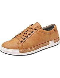ZARLLE Zapatos de Hombre Zapatos Casuales de Primavera otoño de Hombre Zapatillas de Deporte de Hombres de Moda Inteligente Casual Estilo británico Deporte Corriendo Zapatos