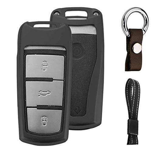 Noir Auto clés Sac Housse de Protection pour VW Volkswagen CC Passat