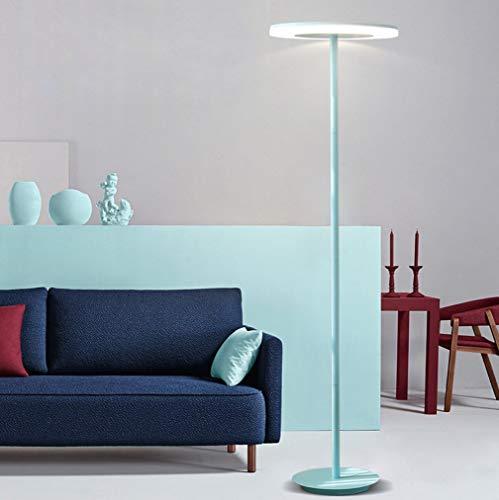 ZHLIANG Lampe torchère, LED Haut lampadaire, Moderne Industriel Permanent, lumière de Lecture pour Salon Chambres et Bureaux, Rose [Classe d'énergie A +],Blue