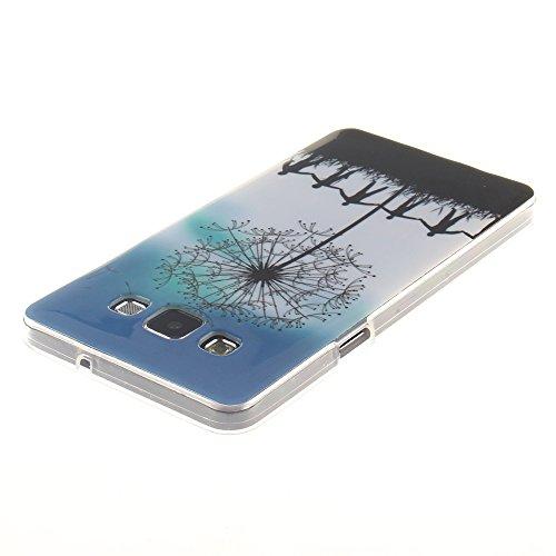 Samsung Galaxy A3(2015) hülle MCHSHOP Ultra Slim Skin Gel TPU hülle weiche Silicone Silikon Schutzhülle Case für Samsung Galaxy A3 - 1 Kostenlose Stylus (Lovely Panda) Hand in Hand Under the Dandelion