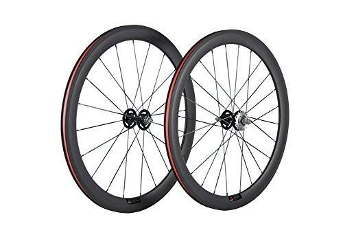 WINDBREAK BIKE Track Carbon Wheels 50mm Clincher Fixed Gear Wheel Single Speed for Track Cycling